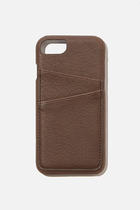 The Phone Case Cardholder SE, 6,7,8, BITTER CHOC