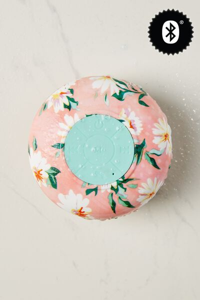 Waterproof Bluetooth Shower Speaker, PINK DAISY