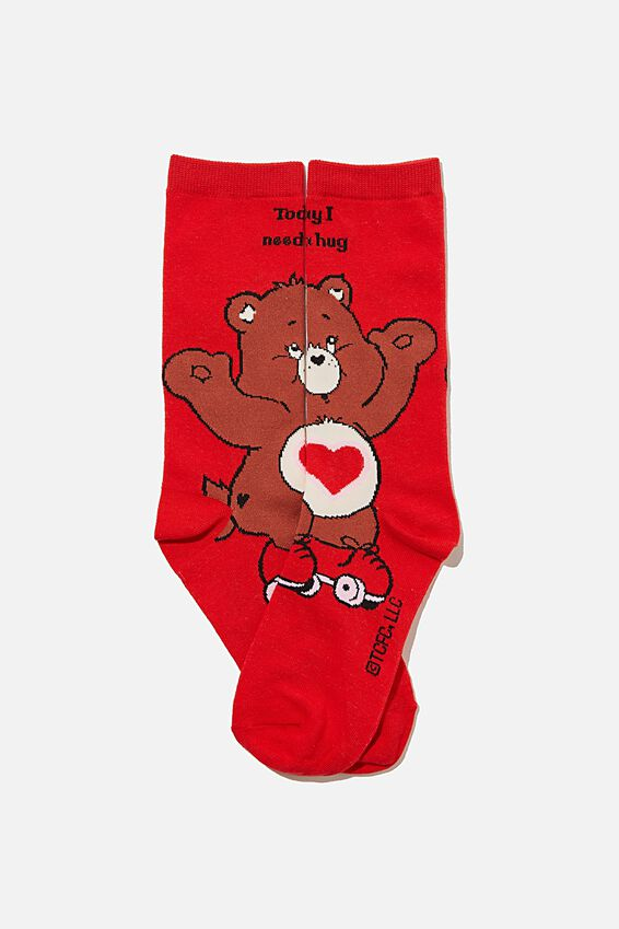 Care Bears Socks, LCN CLC CARE BEARS HUG BEAR