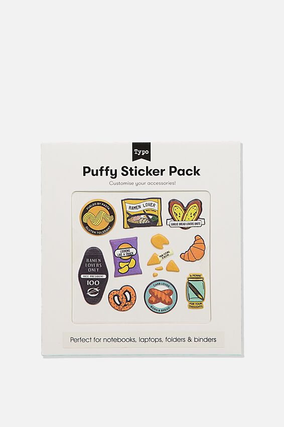 Puffy Sticker Pack, FOOD