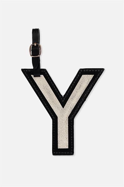 Shaped Alphabet Luggage Tag, Y