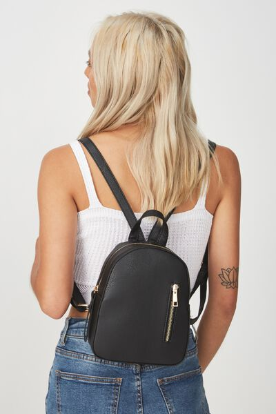 Mini Arch Backpack, BLACK