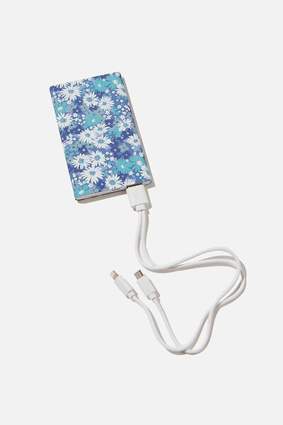 Printed Charge It Charger, DITSY CORNFLOWER