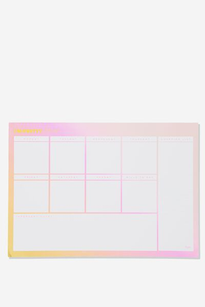 A3 Plan Ahead Planner, I'M PRETTY BUSY OMBRE