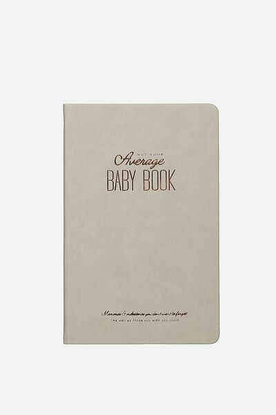 Premium Activity Journal, GREY BABY BOOK