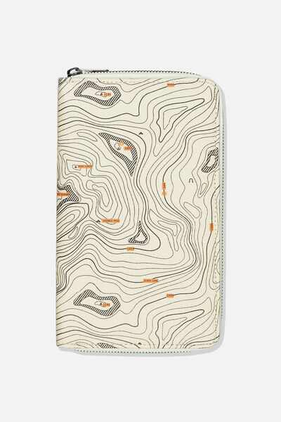 Rfid Odyssey Travel Compendium Wallet, TOPOGRAPHIC MAP
