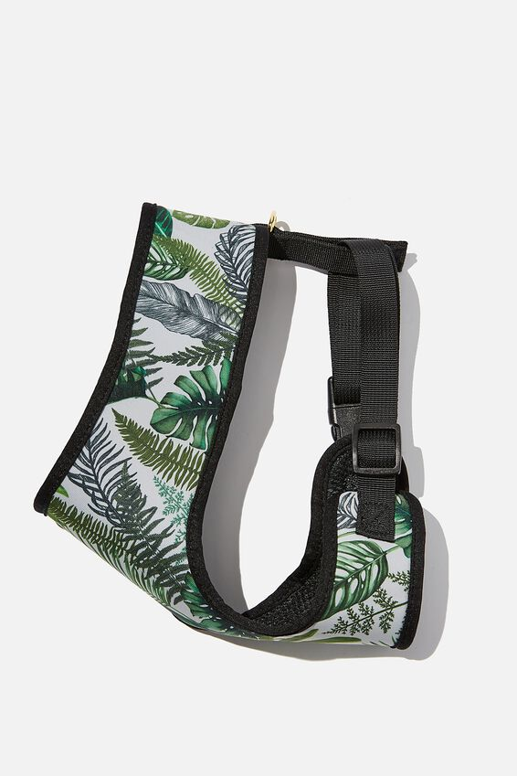 Pet Harness, FERN FOLIAGE - L