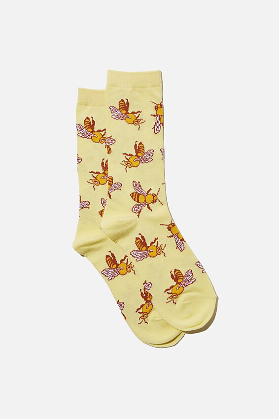Socks, YELLOW BEES