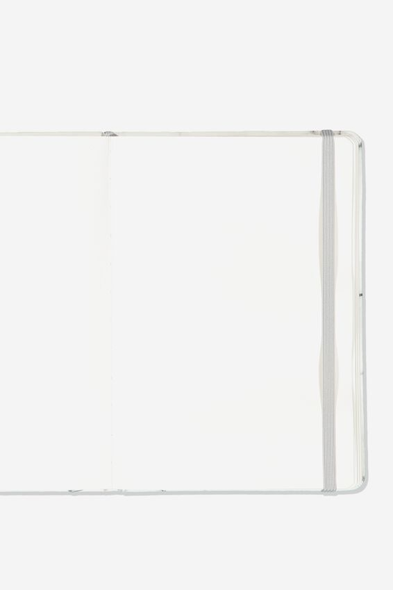 A5 Blank Buffalo Journal, WHITE MARBLE