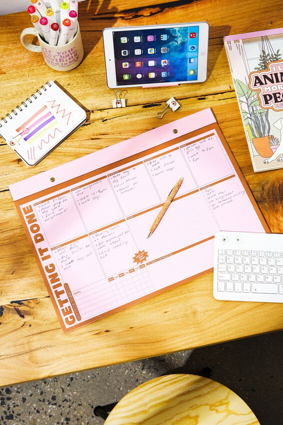 A3 Desk Planner, GETTING IT DONE