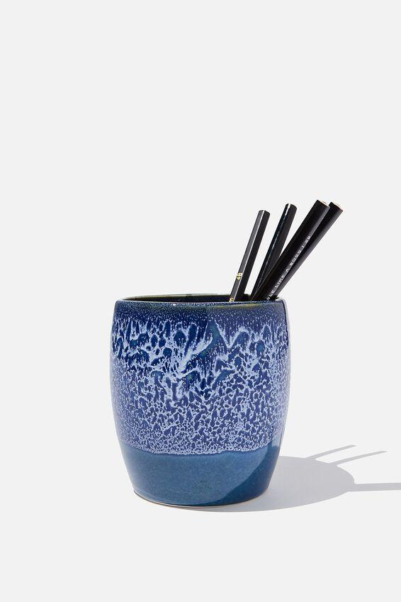 Pen Holder, BLUE MINIMAL