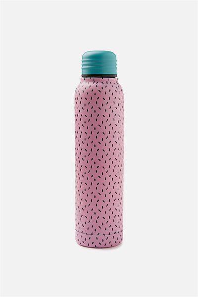 Small Metal Drink Bottle, WATERMELON