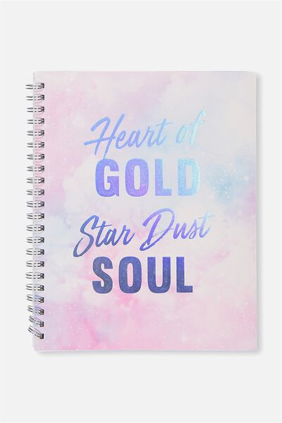 A4 Campus Notebook - 240 Pages, HEART OF GOLD
