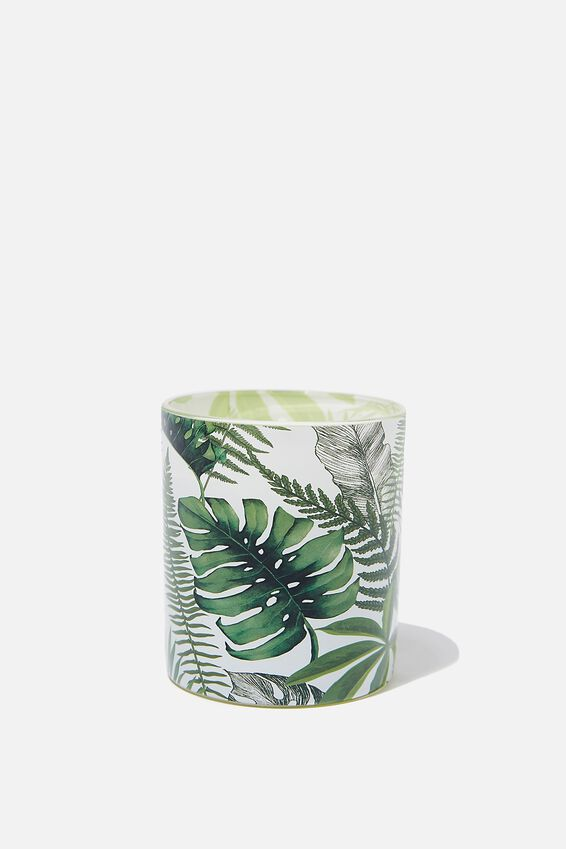 Printed Jar Candle, FERN FOLIAGE
