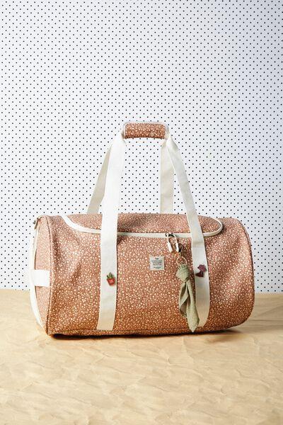 Explorer Duffle Bag, MID TAN MEADOW DITSY