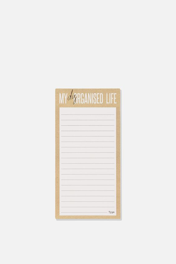 Make A List Note Pad, DISORGANISED LIFE KRAFT