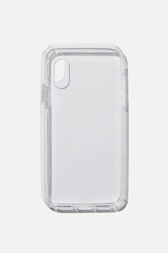 Snap On Protective Phone Case X, Xs, CLEAR GLASS