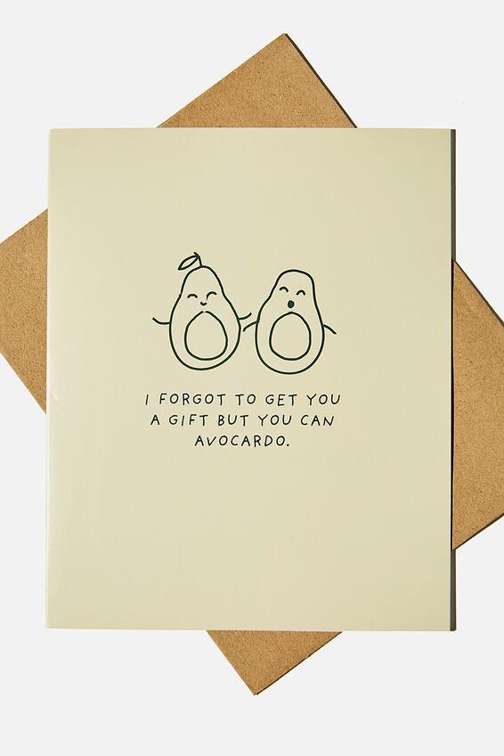 Funny Birthday Card, YOU CAN AVOCARDO