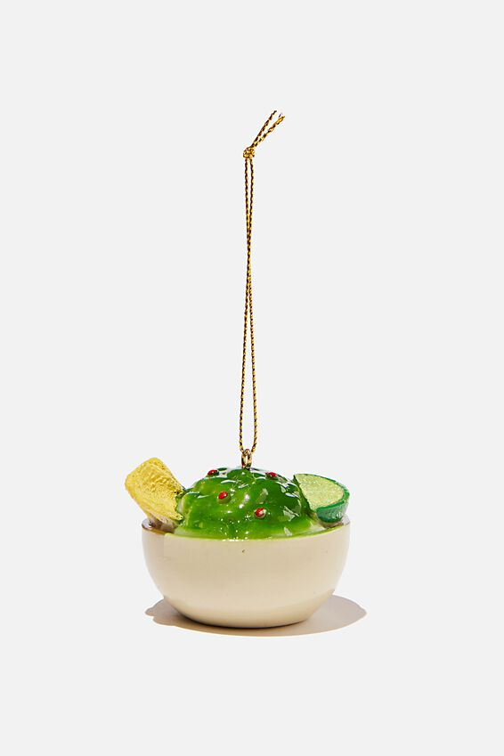 Resin Christmas Ornament, GUAC & CHIPS