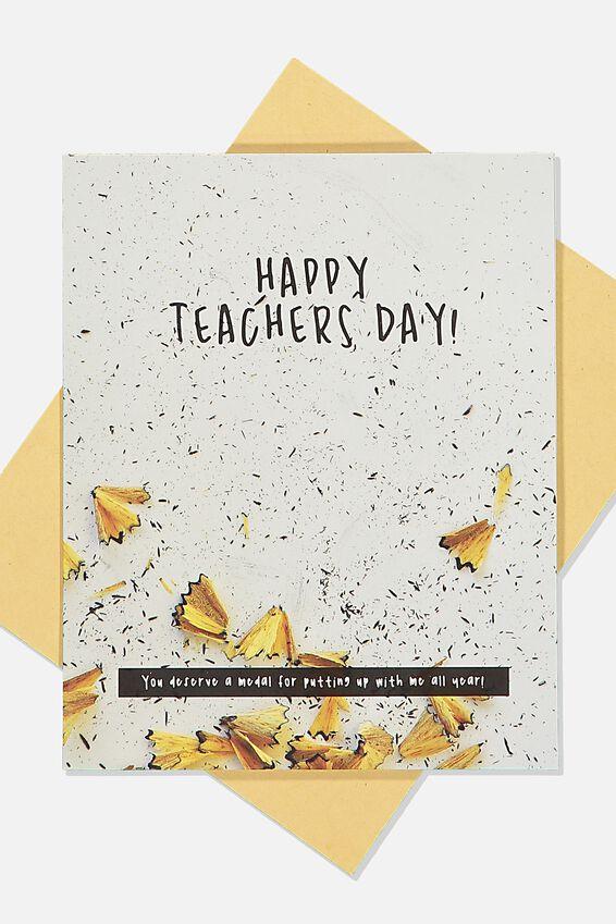 Teacher Card, TEACHERS DAY PENCIL SHARPENING