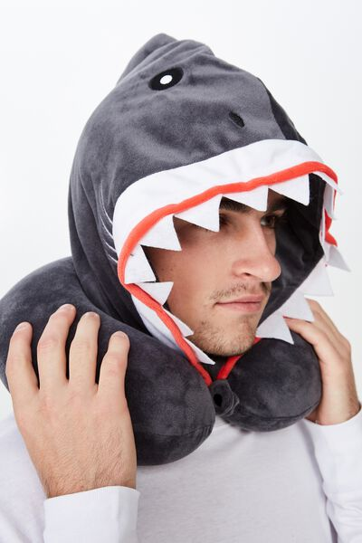 Travel Pillow With Hood, SHARK