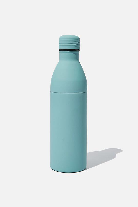 Two Piece Metal Drink Bottle, PL RUBBER SOFT MOSS
