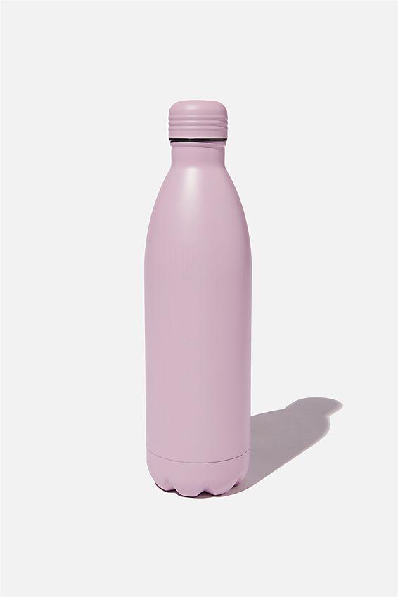 1L Metal Drink Bottle, HEATHER