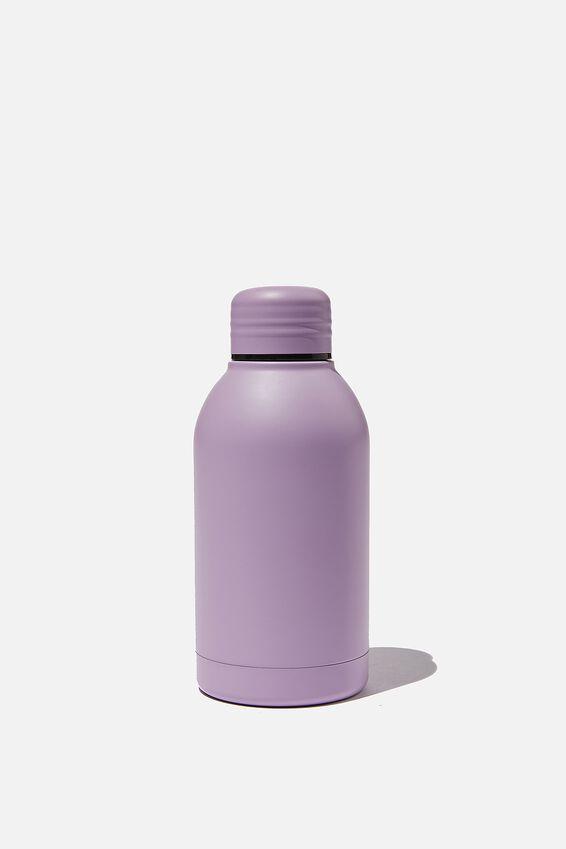 Mini Metal Drink Bottle, HEATHER