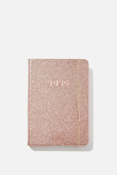 2020 A6 Daily Buffalo Diary, ROSE GOLD GLITTER