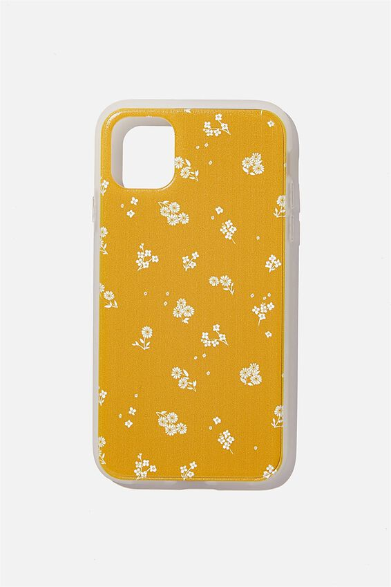Snap On Protective Phone Case Iphone 11, DOTTIE FLORAL MUSTARD