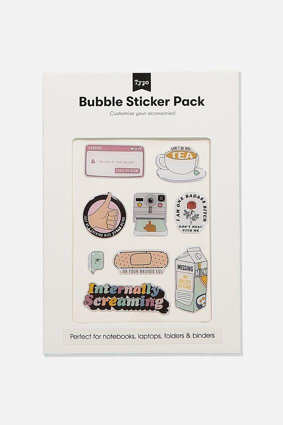 Bubble Sticker Pack, INTERNALLY SCREAMING!