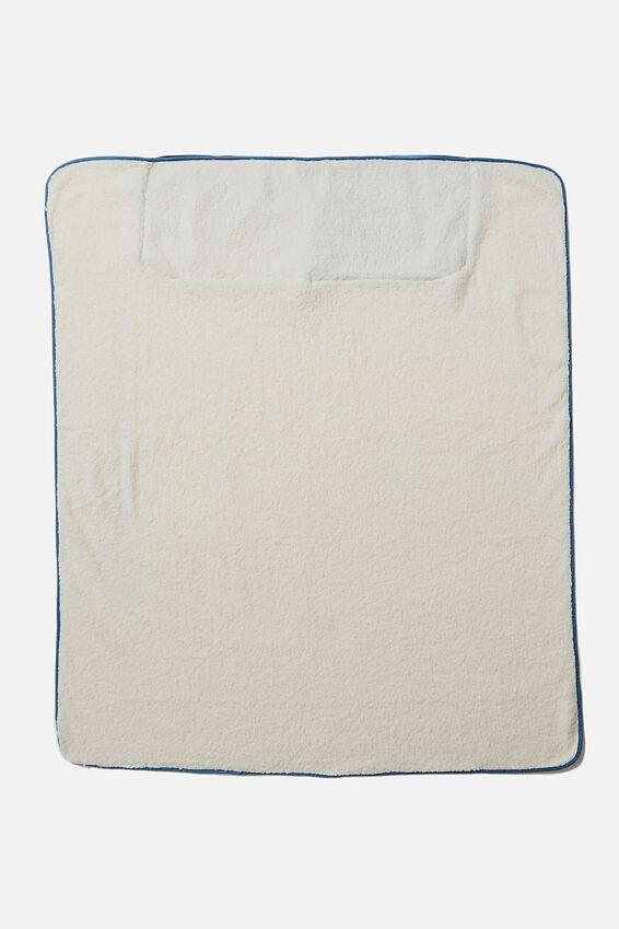 Convertible Cushion Throw, DITSY CORNFLOWER DENIM