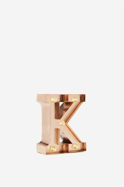 Mini Marquee Letter Lights 10cm, ROSE GOLD K