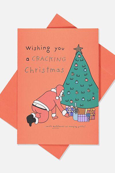 Christmas Card 2019, CRACKING SANTA CHRISTMAS