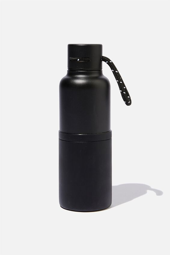 The Loop Metal Drink Bottle, BLACK POWDER COAT