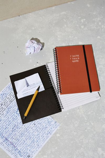 A5 Spinout Notebook Recycled, I TRIED