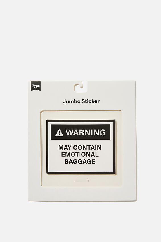 Jumbo Sticker, EMOTIONAL BAGGAGE BLACK