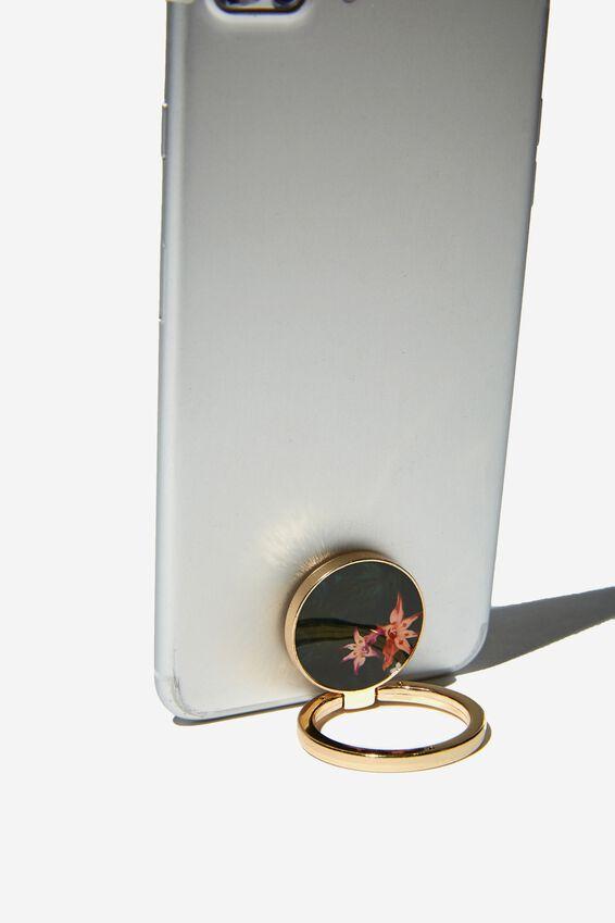 Metal Phone Ring, JUNGLE FLORAL
