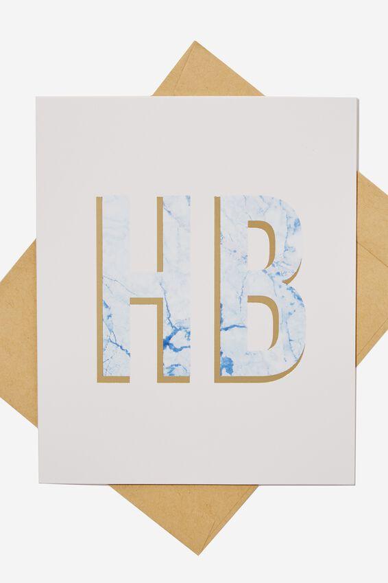 Nice Birthday Card, HB MARBLE