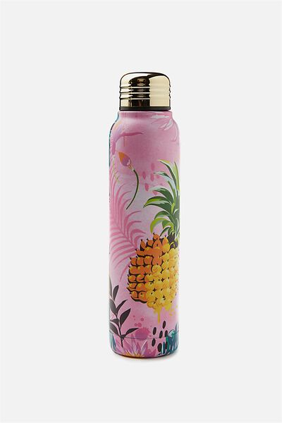 Small Metal Drink Bottle, TROPICAL