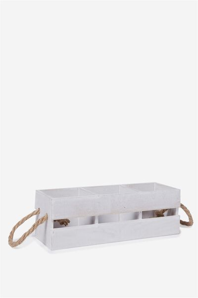 Party Crate Small, WHITE WASH