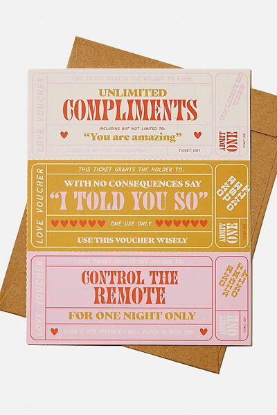 Premium Love Card, LOVE COUPONS