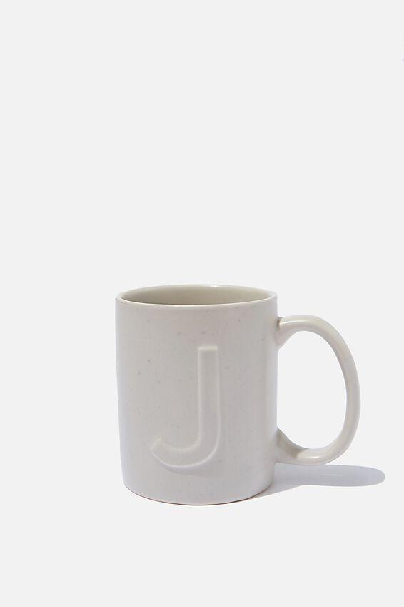 Alphabet Anytime Mug, SPECKLED J