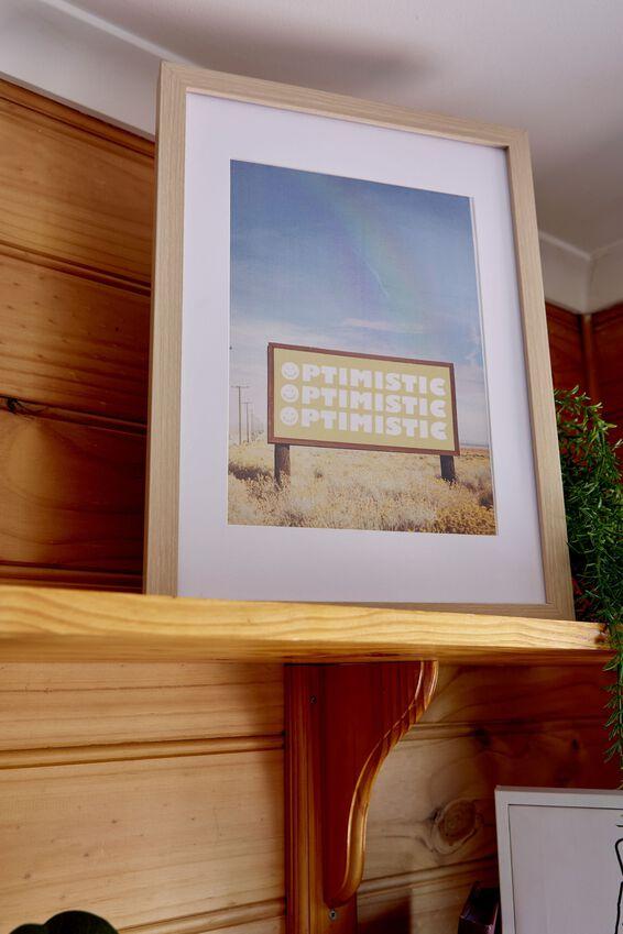 A4 Framed Print, OPTIMISTIC