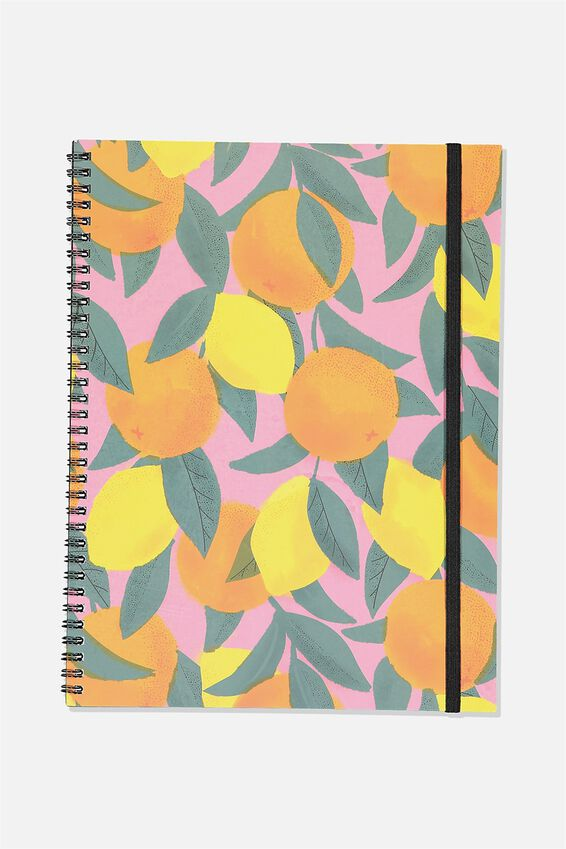 A4 Spinout Notebook Recycled, ORANGES   LEMONS