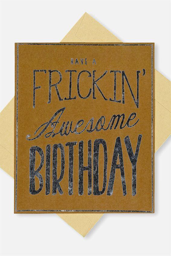 Swear Jar Card, FB-FRICKEN AWESOME