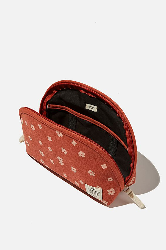 Canvas Essential Pouch, CHARLIE FLORAL RUST