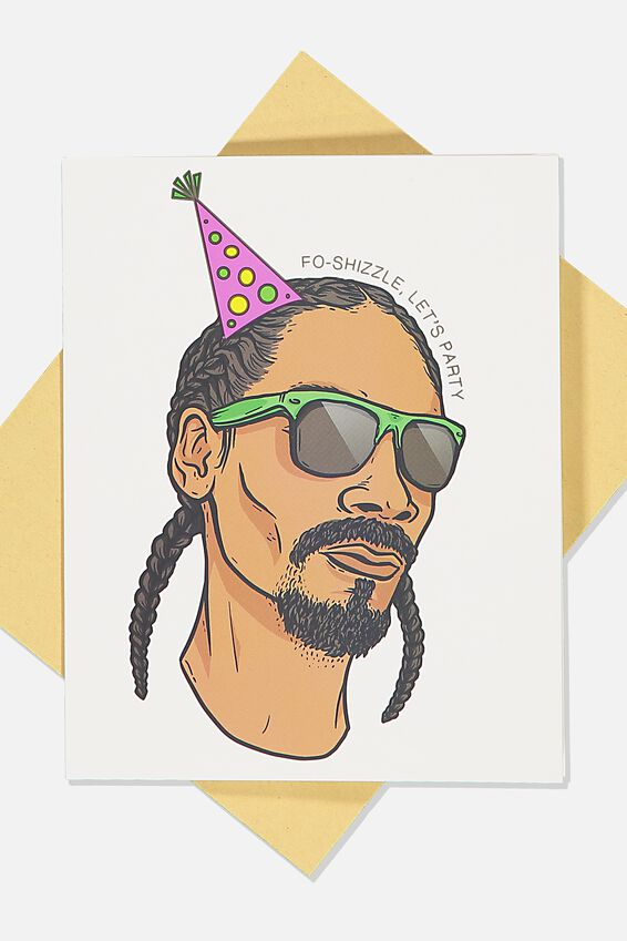 Snoop Dogg Funny Birthday Card, LCN MT SNOOP PARTY HAT