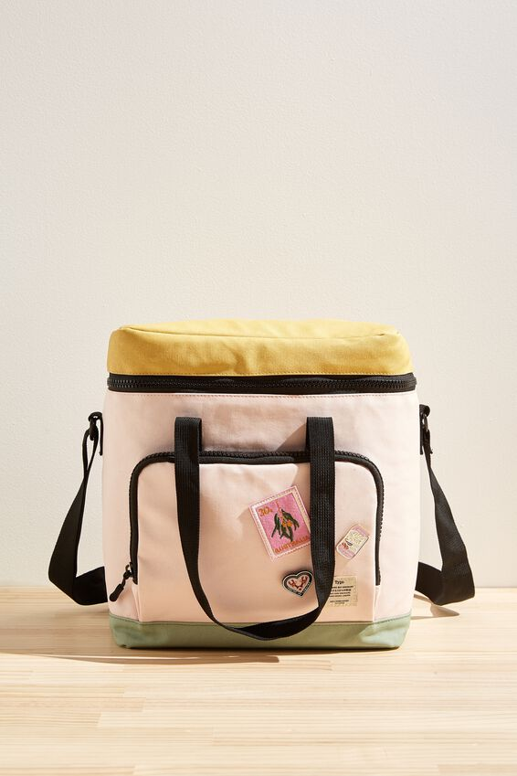 Day For It Cooler Bag, PALE PINK SPLICE