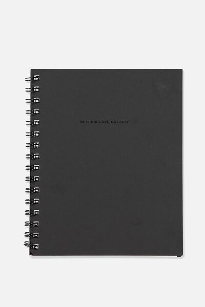 A5 Campus Notebook Recycled, BE PRODUCTIVE BLACK